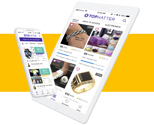 Shop Tophatter on any device